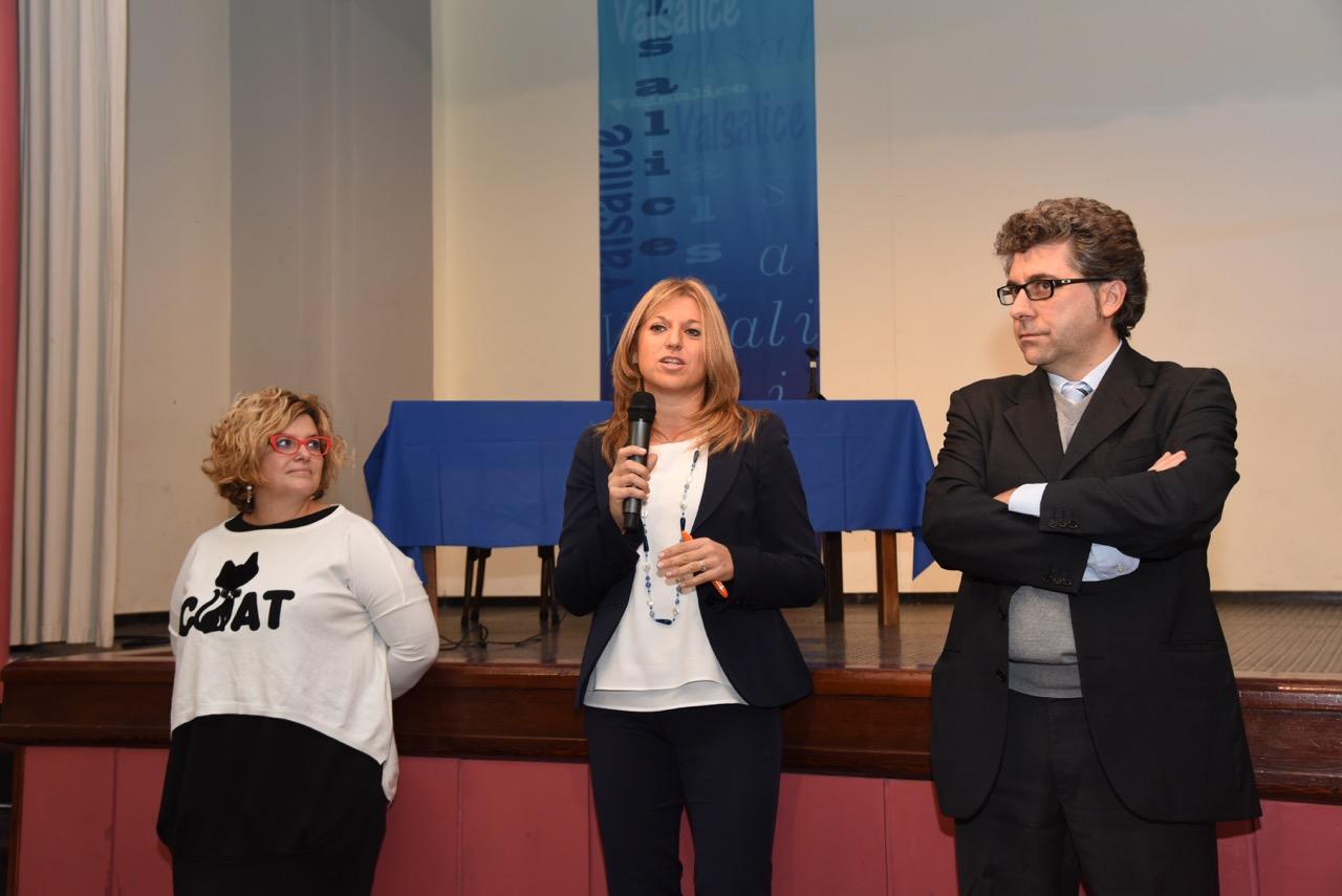Stefania Agagliate ed Elena Maldera con Giorgio Bruno