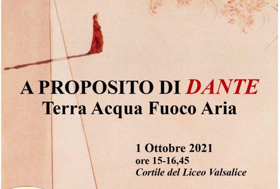 In occasione del settecentenario della morte di Dante anche Valsalice partecipa ai festeggiamenti che rendono omaggio in tutta Italia al poeta organizzando una serie di eventi in questi ultimi mesi del 2021. Come sapete si è organizzato un evento che coinvolgerà allievi in primis genitorie ovviamente tutti noi 1 ottobre dalle ore 15 alle ore […]